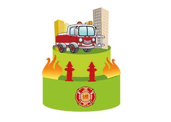 firefighter-cake